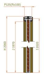 Stavební pouzdro JAP STANDARD 1100 mm - jednokřídlé, atypická výška průchodu 2200 - 2700 mm - napište do poznámky - 2