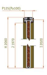 Stavební pouzdro JAP KOMFORT 1850 mm - dvoukřídlé, výška průchodu 1970mm, dokončená příčka 125 mm - 3