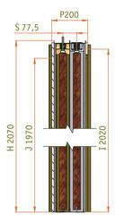 Stavební pouzdro JAP UNIBOX 600 + 600 mm, výška průchodu 2100 mm, orientace levá - 3