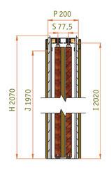 Stavební pouzdro JAP PARALLEL 1450 mm, výška průchodu 1970 mm, orientace levá - 3
